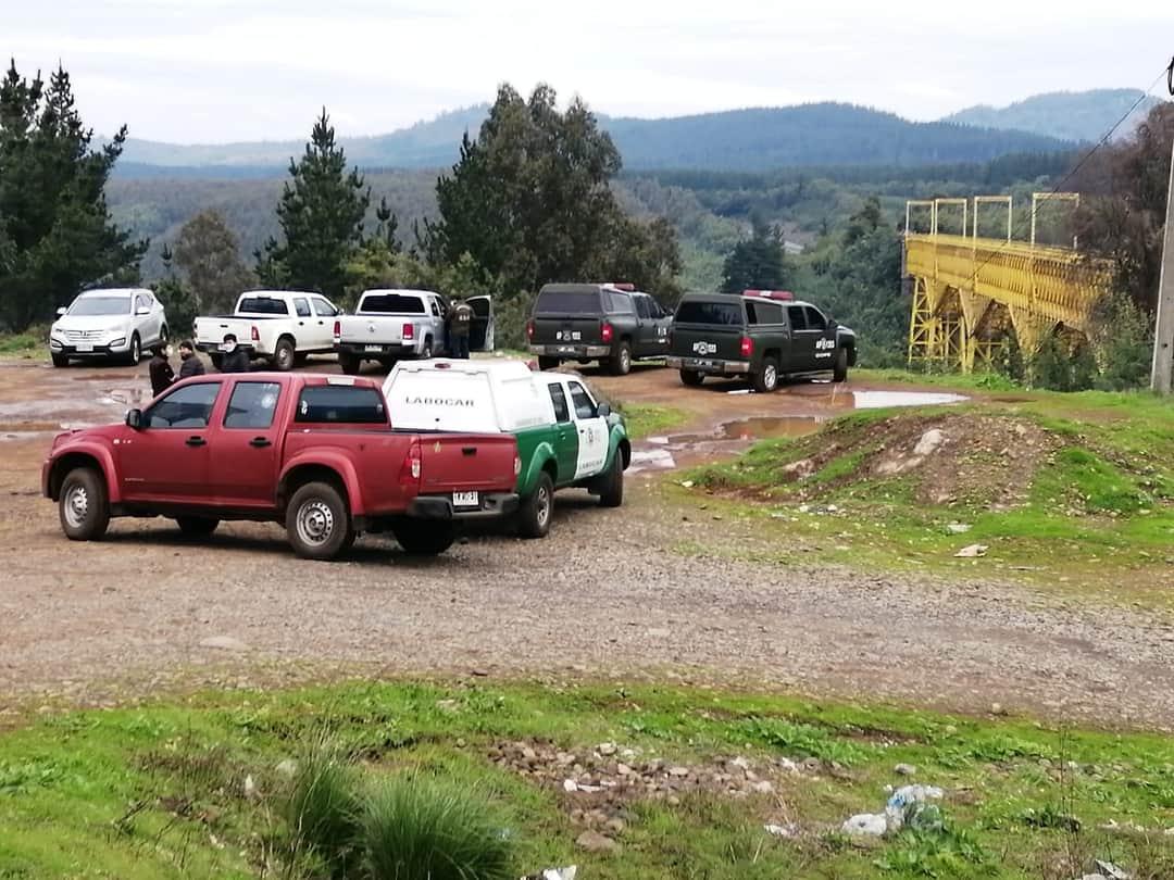 Labocar y GOPE trabajaron en Viaducto del Malleco por hallazgo de material químico