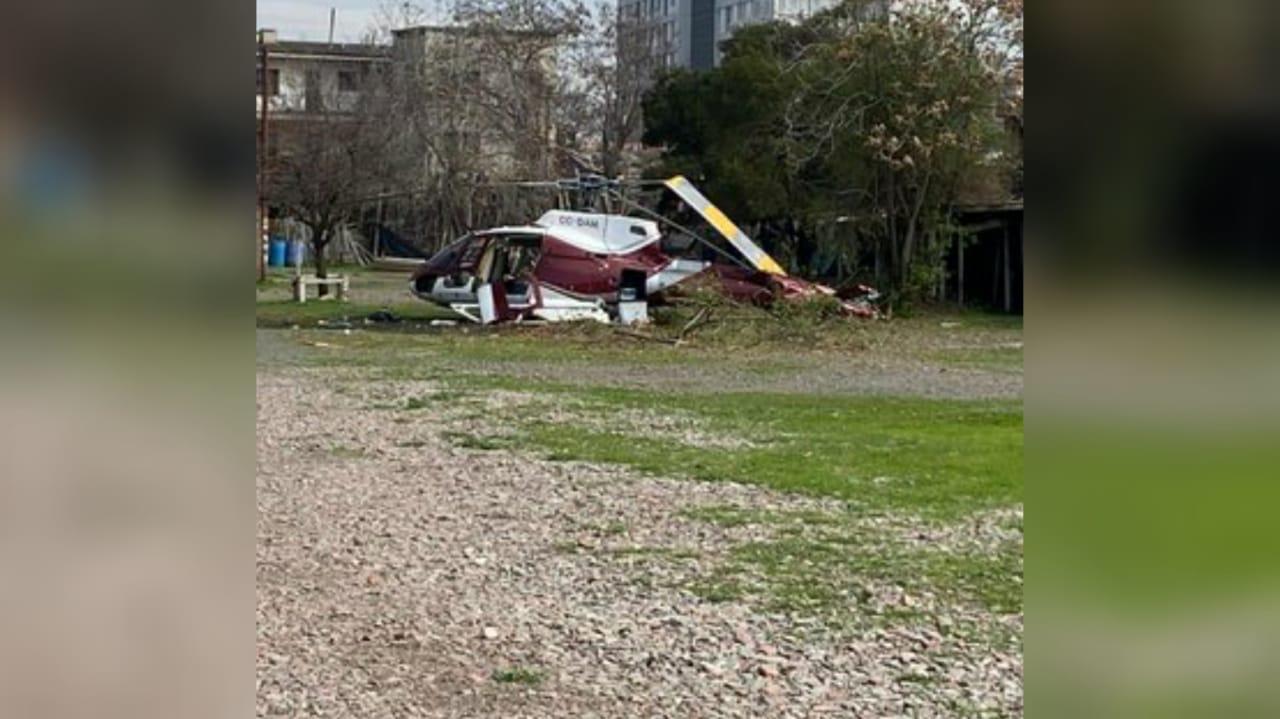 Helicóptero cayó junto al Hospital Sótero del Río: tuvo falla mecánica