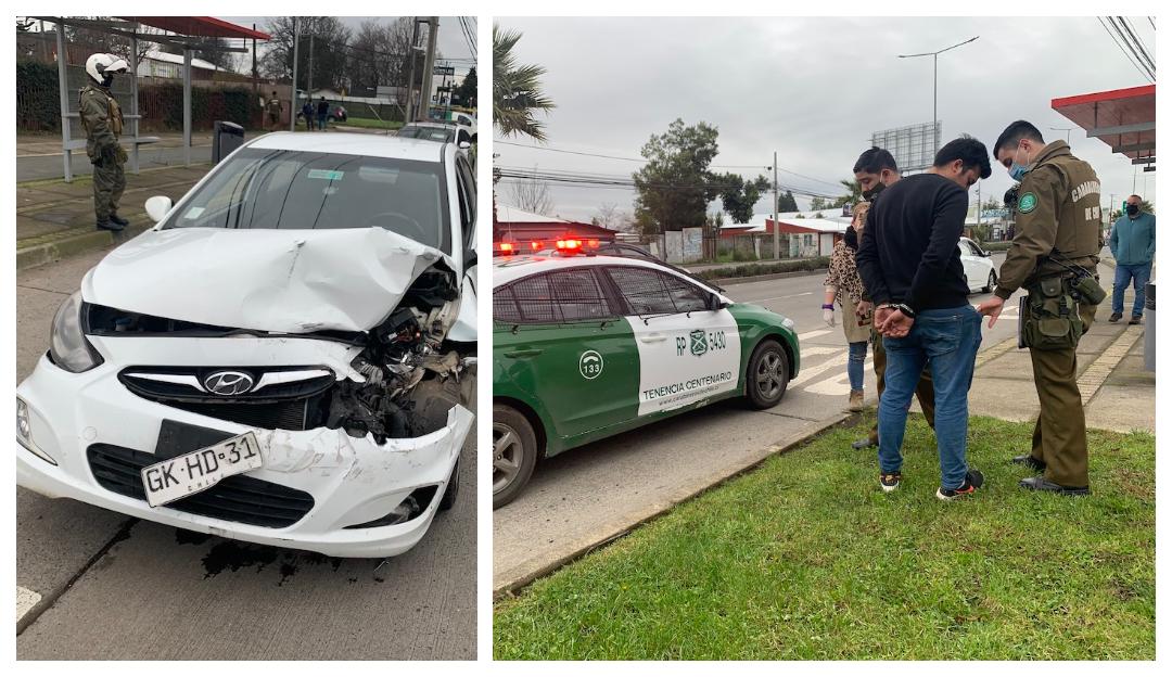 Conductor ebrio a exceso de velocidad protagoniza accidente en Los Ángeles