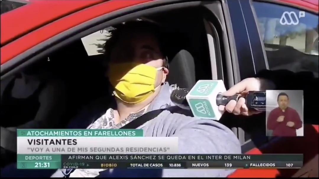 Entrevistado salió 6 segundos al aire y se ganó el repudio de los internautas