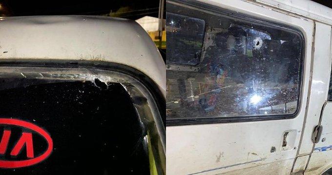 Barricadas en Ruta 5 Sur: Carabineros reportó vehículo familiar con impactos de bala