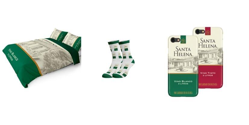 De calcetas a cubre cama: furor por insólita línea de productos 'Santa Helena'
