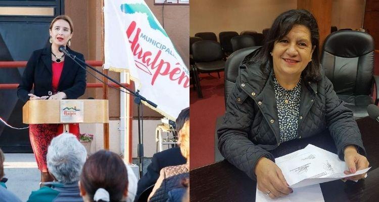 VIDEO: Alcaldesa y concejala de Hualpén se agreden durante confuso incidente