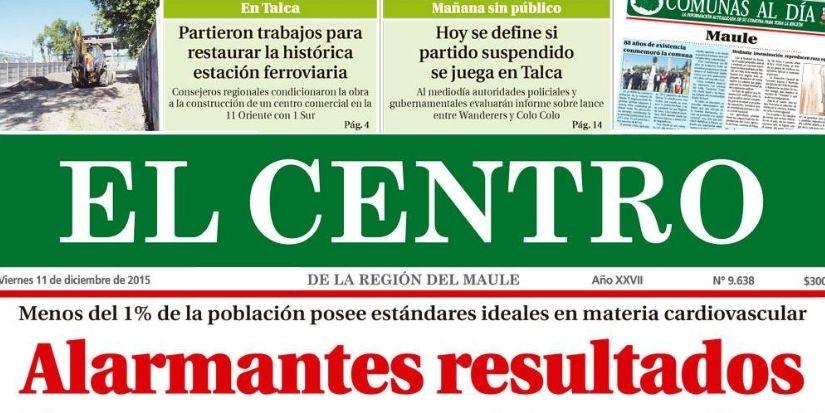 Diario El Centro de Talca se declara en quiebra tras 31 años en circulación