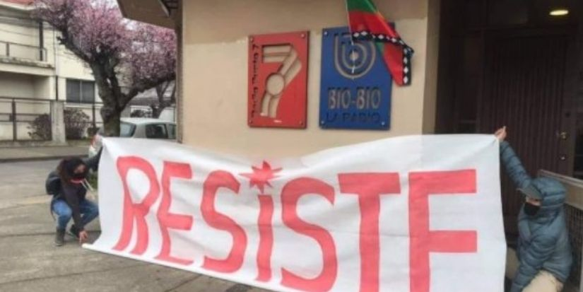 Manifestantes mapuches se tomaron edificio de Radio Bío Bío en Temuco