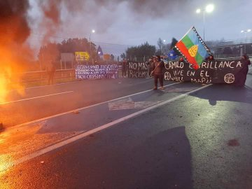 Ojo conductores: barricadas cortan tránsito en Ruta 5 Sur a la altura de Ercilla