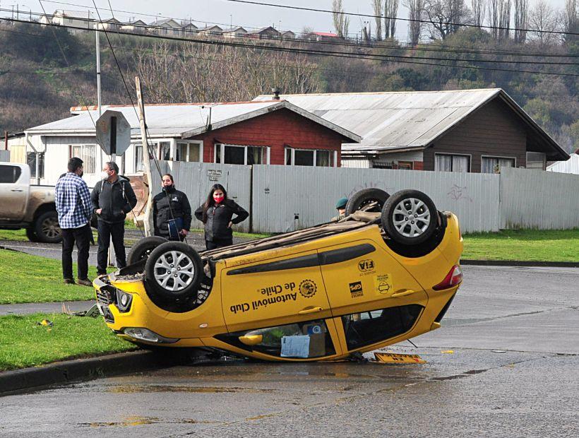 Alumna de escuela de conducir volcó durante su curso en Osorno