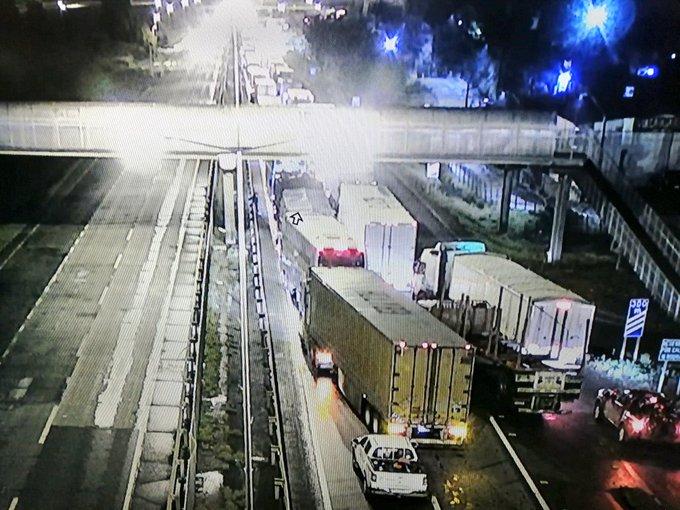 Tránsito suspendido en Ruta 5 Sur por balaceras y barricadas en Ercilla