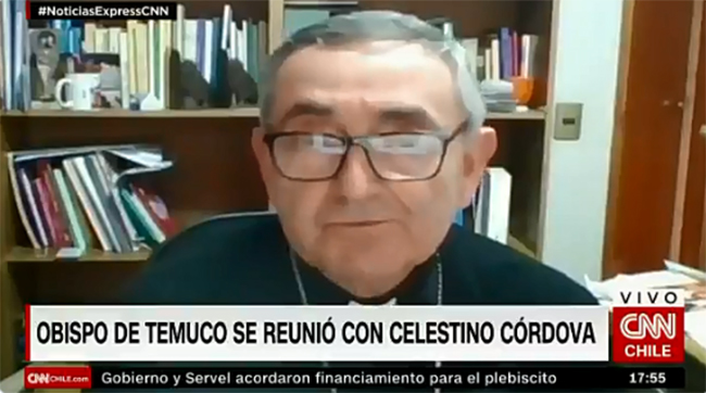 Obispo de Temuco se reunió con Celestino Córdova: «Lo percibí muy claro en su postura»