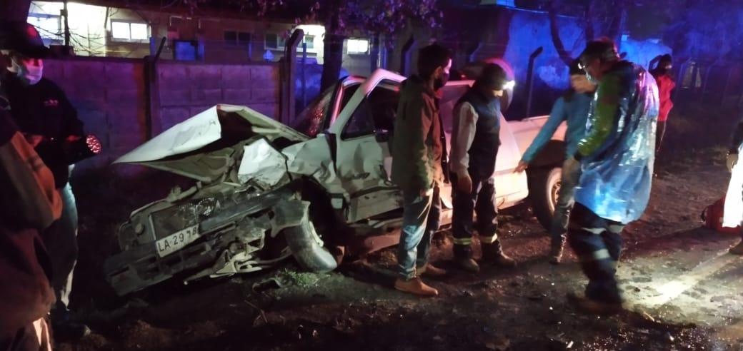 Violenta colisión camino a Santa Bárbara deja 4 heridos: Uno grave
