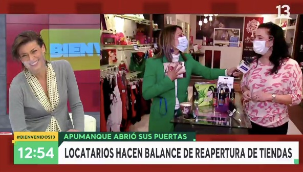 Periodista de Bienvenidos protagoniza jocoso momento con chocolate en SexShop