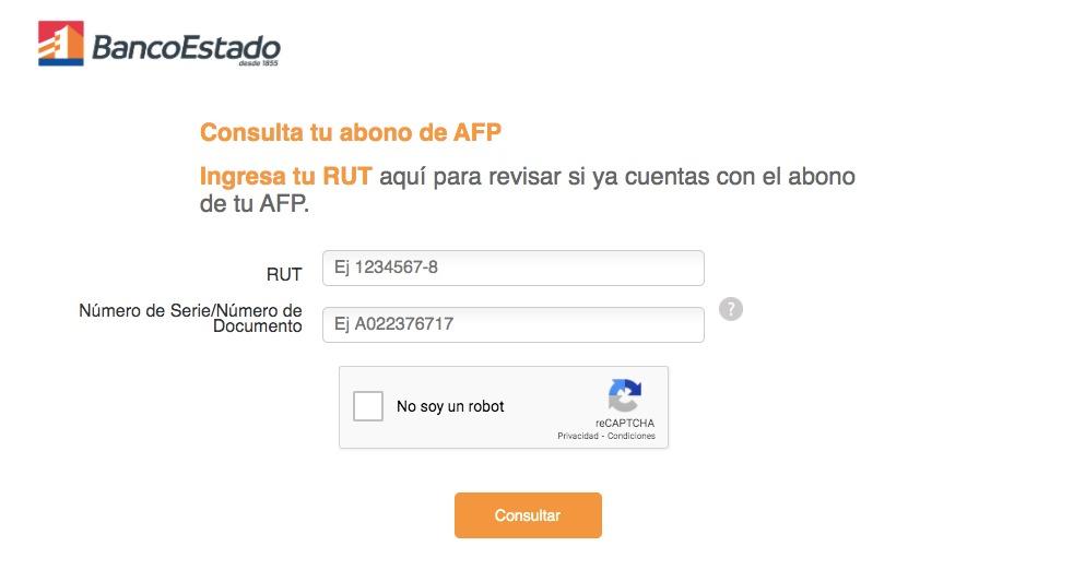 BancoEstado habilita web que informa si depositaron 10% AFP: sólo pide carnet