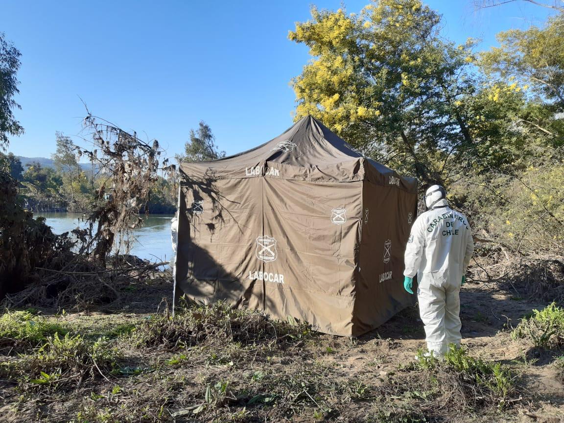 Encuentran cadáver de joven en río Claro de Maule