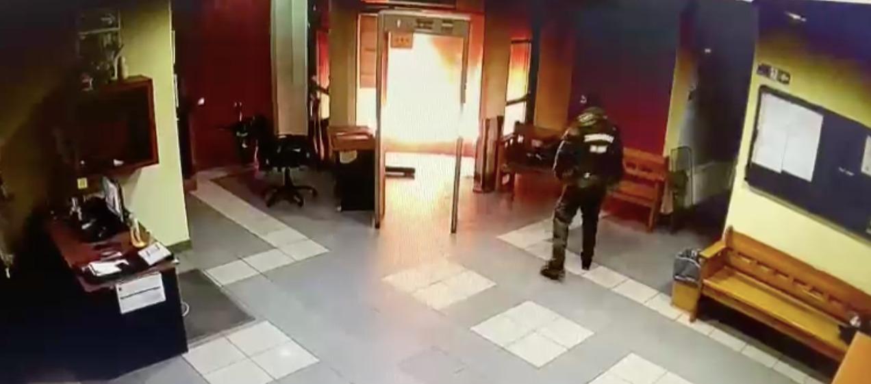 Desconocidos intentaron quemar Juzgado de Garantía de Cañete