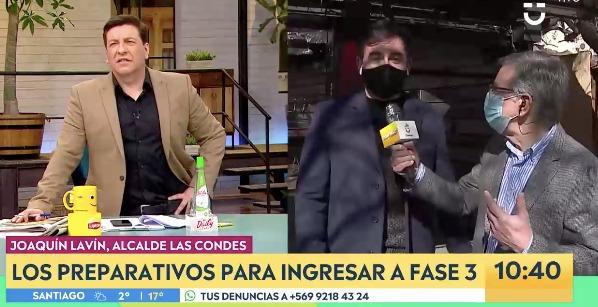 «Pa' que no digan que no tengo calle»: Lavín se lució como notero de matinal