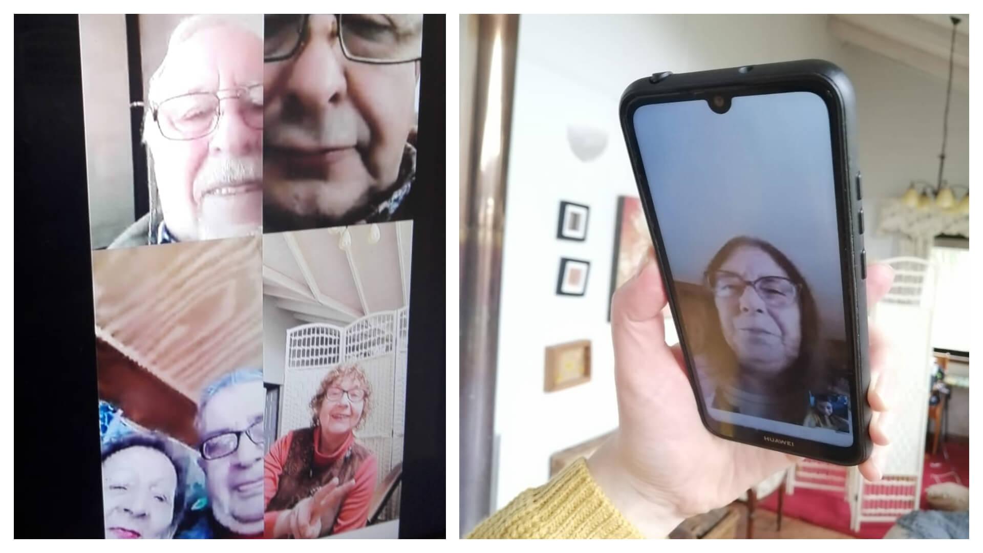 Adultos mayores de L.A analizan el proceso constituyente por videoconferencia