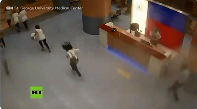 Revelan dramático registro de la explosión de Beirut dentro de un hospital