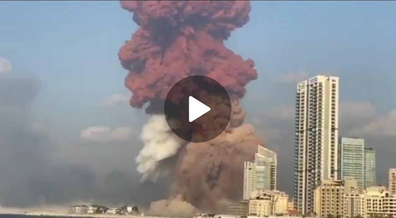 Videos muestran impresionante explosión en Beirut, capital del Líbano