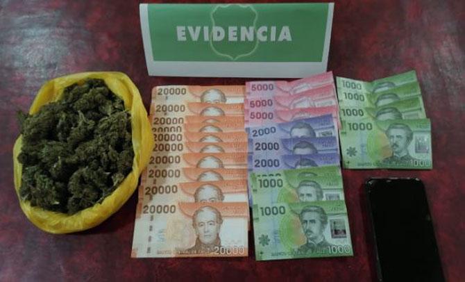 Tres detenidos por negarse a control policial y darse a la fuga: llevaban droga escondida