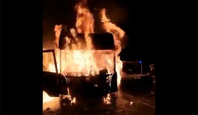 Camioneros tras ataque incendiario que dejó a una niña grave: «Debe ser un grupo especializado»