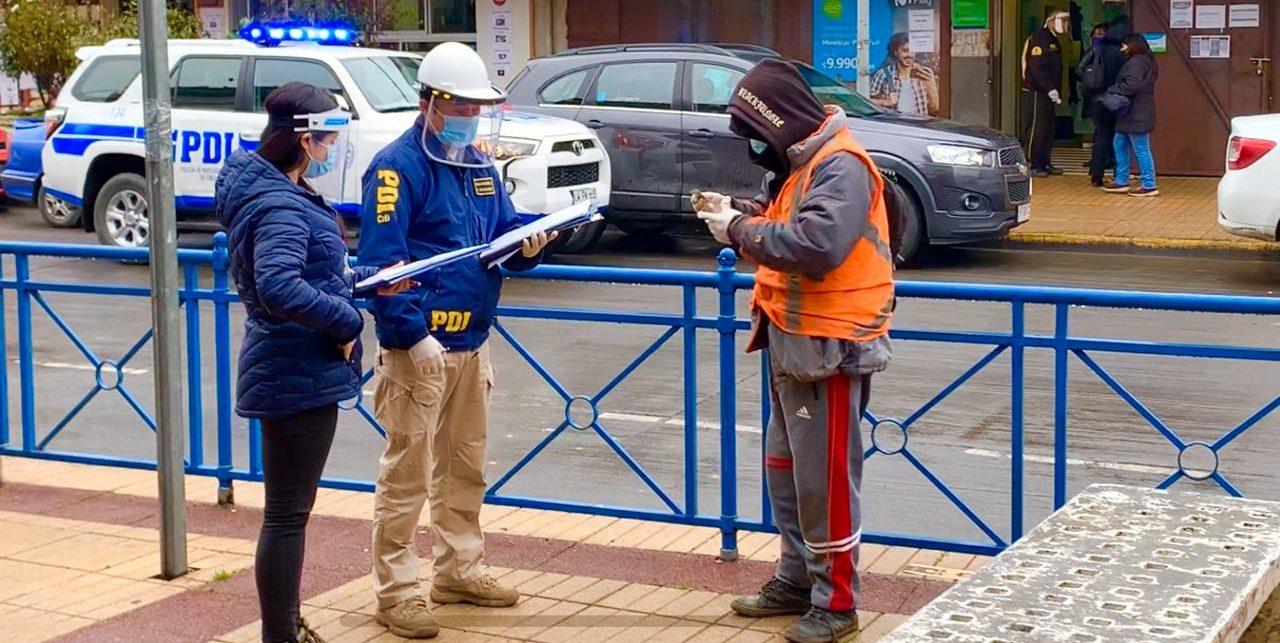 Talcahuano: detienen a cuidador de autos por quebrantar cuarentena