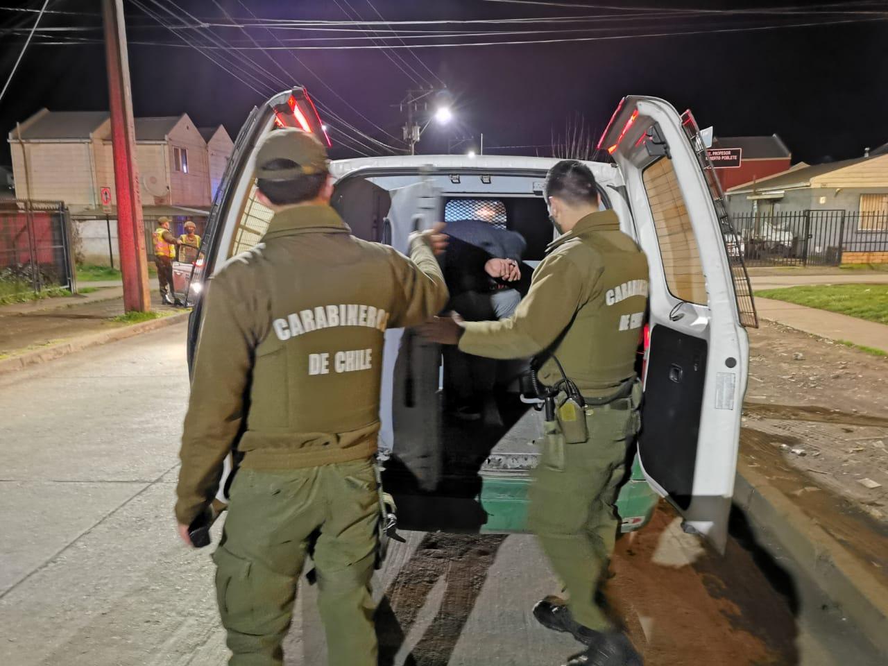 22 detenidos por incumplir toque de queda en provincia de Bío Bío