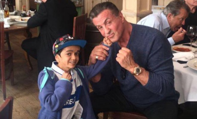 Miguelito contó la verdad  detrás del viral registro 'pegándole' un combo a Stallone