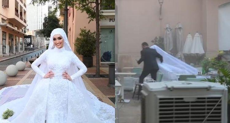 Beirut: captan momento exacto de explosión durante sesión a novia