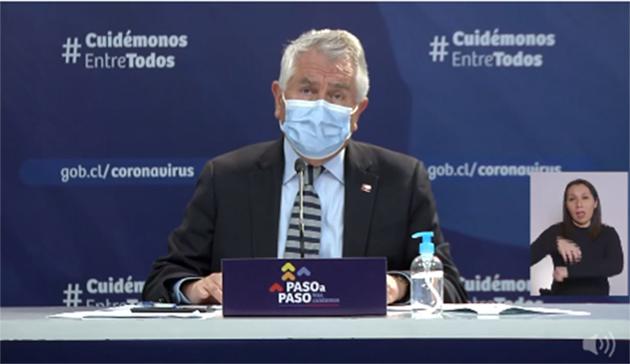 Chile registra nueva alza de contagios de Covid-19 y 69 fallecidos.