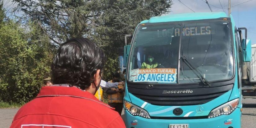 Fiscalizan transporte público intercomunal en provincia de Bío Bío de cara al «18»