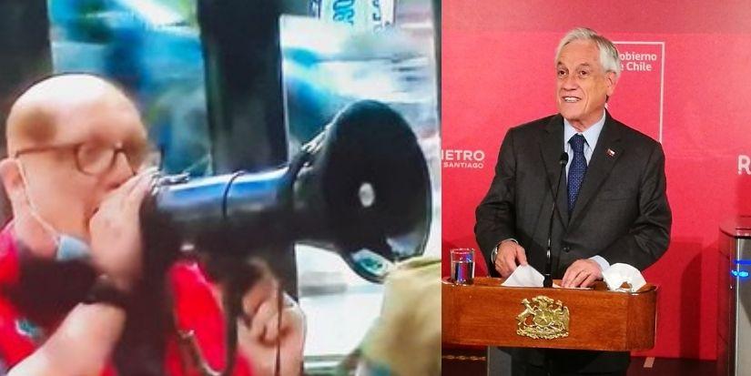 Trabajadores de Metro 'funaron' punto de prensa del presidente Piñera