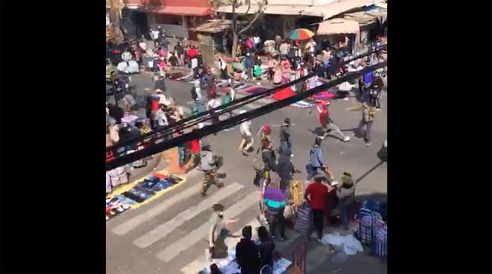 Vendedores ambulantes sembraron el pánico tras pelear con sables en el Barrio Meiggs