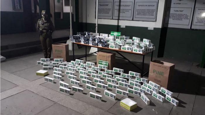 Los Ángeles: detienen a sujeto con más de 1500 cajetillas de cigarros de contrabando