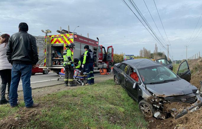 Los Ángeles: dos lesionados deja accidente de tránsito camino a Antuco