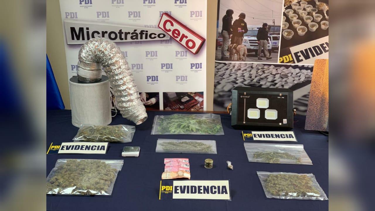 PDI detiene a sujeto que traficaba marihuana en Coronel
