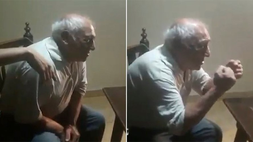 Abuelo lloró de emoción al enterarse por Zoom que su nieto se recibió de abogado