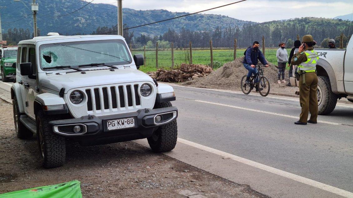 Copiloto de Jeep murió tras impacto de piedra que saltó desde camión de áridos