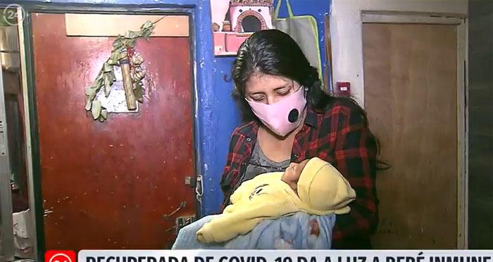 «Un milagro»: mujer embarazada se recuperó de Covid-19 y dio a luz a bebé inmune al virus