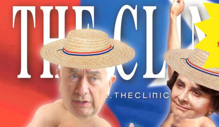 Ministro Paris agradeció jocosa portada de The Clinic donde sale 'bailando desnudo'