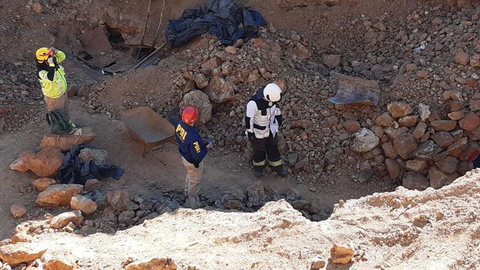 Hombre de 73 años muere tras el derrumbe de una faena minera ilegal