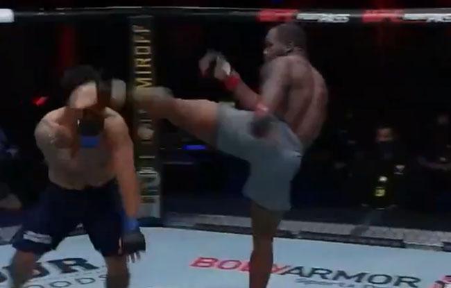 Brutal patada en la UFC se postula al mejor KO del año: rival tardó 5 minutos en levantarse