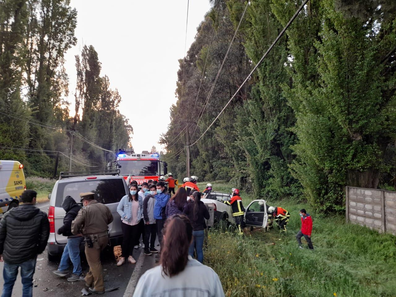 Accidente vehicular deja tres heridos en Los Ángeles: dos graves