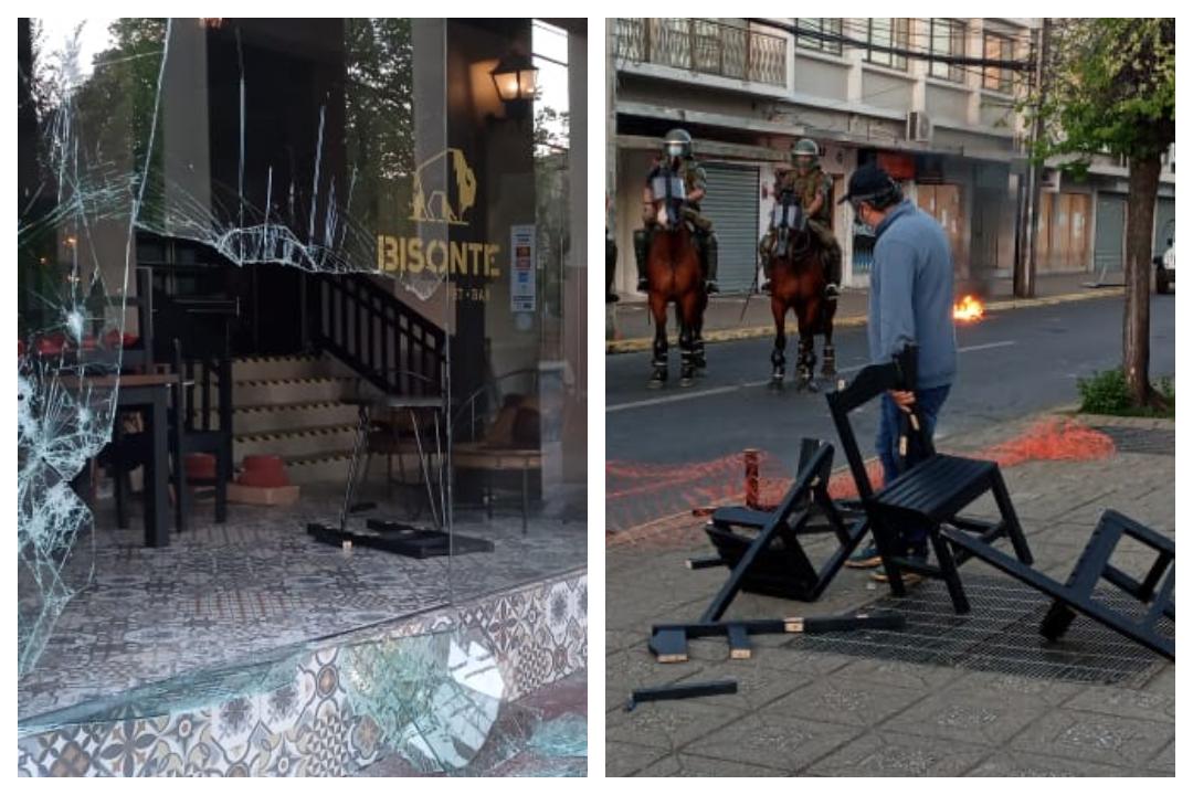 Los Ángeles: Manifestantes saquearon restaurant en pleno centro