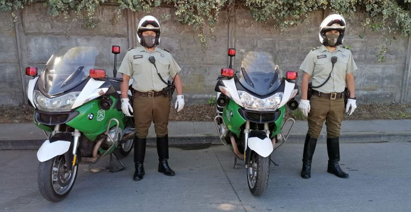 Carabineros de Los Ángeles estrenan dos motos BMW para fiscalizar la Ley de Tránsito