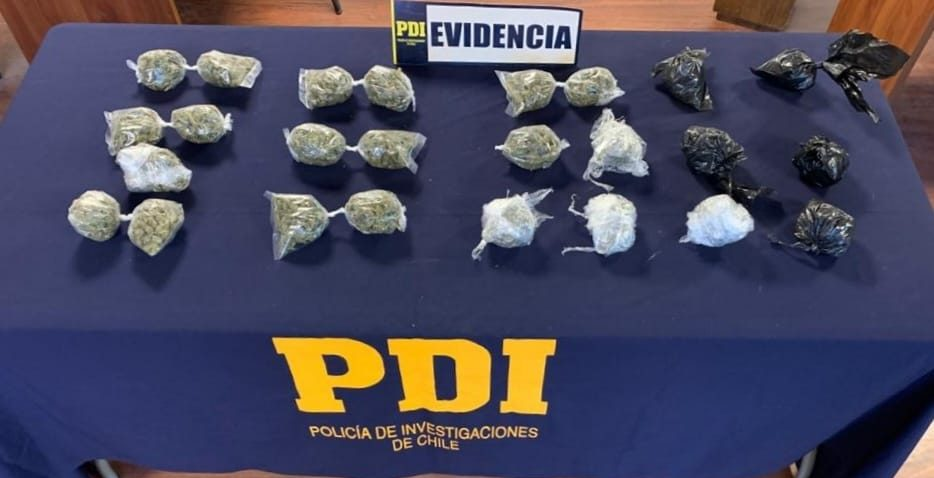 Yumbel: detienen a sujeto con más de 600 dosis de marihuana en su domicilio