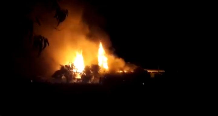 Ataque incendiario en Cañete dejó escuela rural totalmente destruida