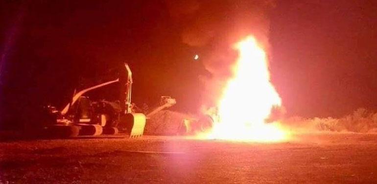 Ataque incendiario en Carahue deja por lo menos 9 camiones destruidos