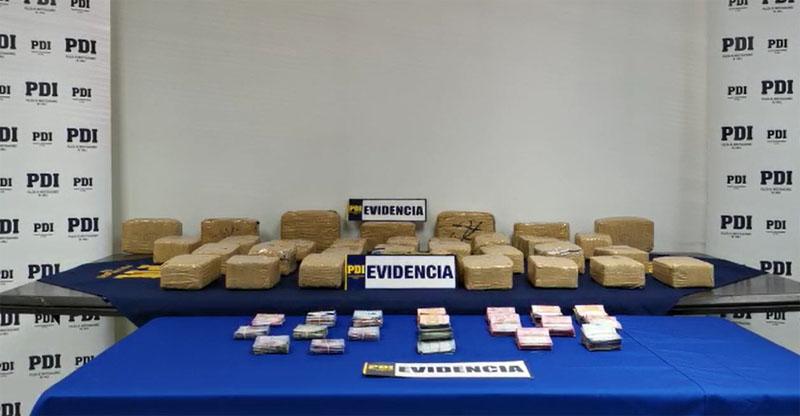 Desbaratan en Concepción a banda del 'Pelao Boris': más de 30 kilos de marihuana fueron decomisados