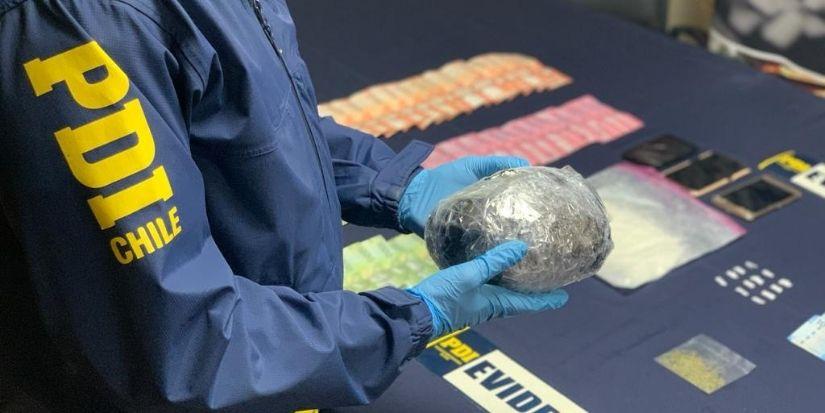 PDI decomisa más de 25 mil dosis de pasta base en Coronel