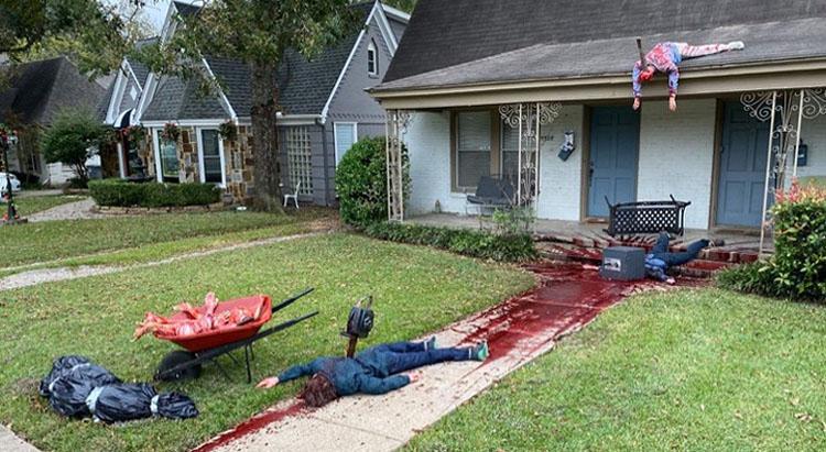 Casa 'embrujada' quedó tan realista que la policía llegó para ver lo que pasaba